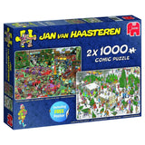 Jan van Haasteren Christmas Gifts 2 x 1000 piece Jigsaw Puzzle