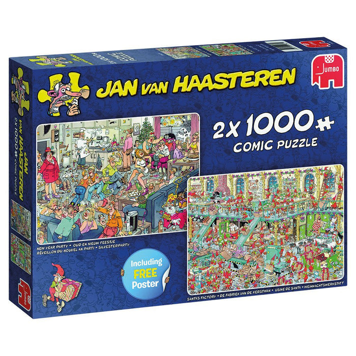 Jan van Haasteren Holiday 2 in 1 1000 Piece Jigsaw Puzzle