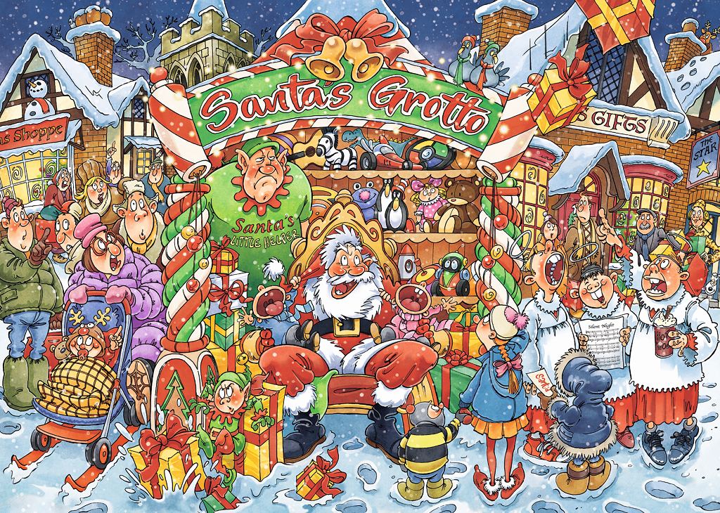 Wasgij Christmas 14 Santa's Little Helpers 2 x 1000 Piece Jigsaw Puzzle