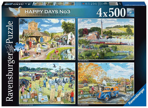 Happy Days No 3, Countryside Nostalgia 4 x 500 Piece Jigsaw box