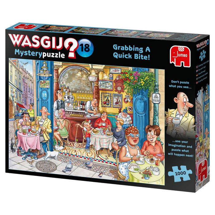 Wasgij 'Mystery 18 Grabbing A Quick Bite 1000 Piece Jigsaw Puzzle 2