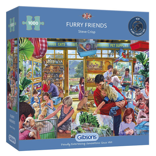 Gibsons Furry Friends 1000 piece Jigsaw Puzzle box