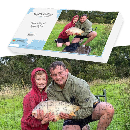 Fishing Gift - Personalised 200 piece photo jigsaw puzzle