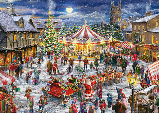 Falcon de Luxe 'The Christmas Carousel' Limited Edition 2 x 1000 Piece Jigsaw Puzzle 1