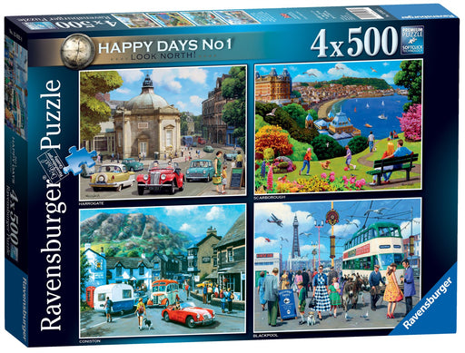 Happy Days No 1, Look North! 4 x 500 Jigsaw Puzzle