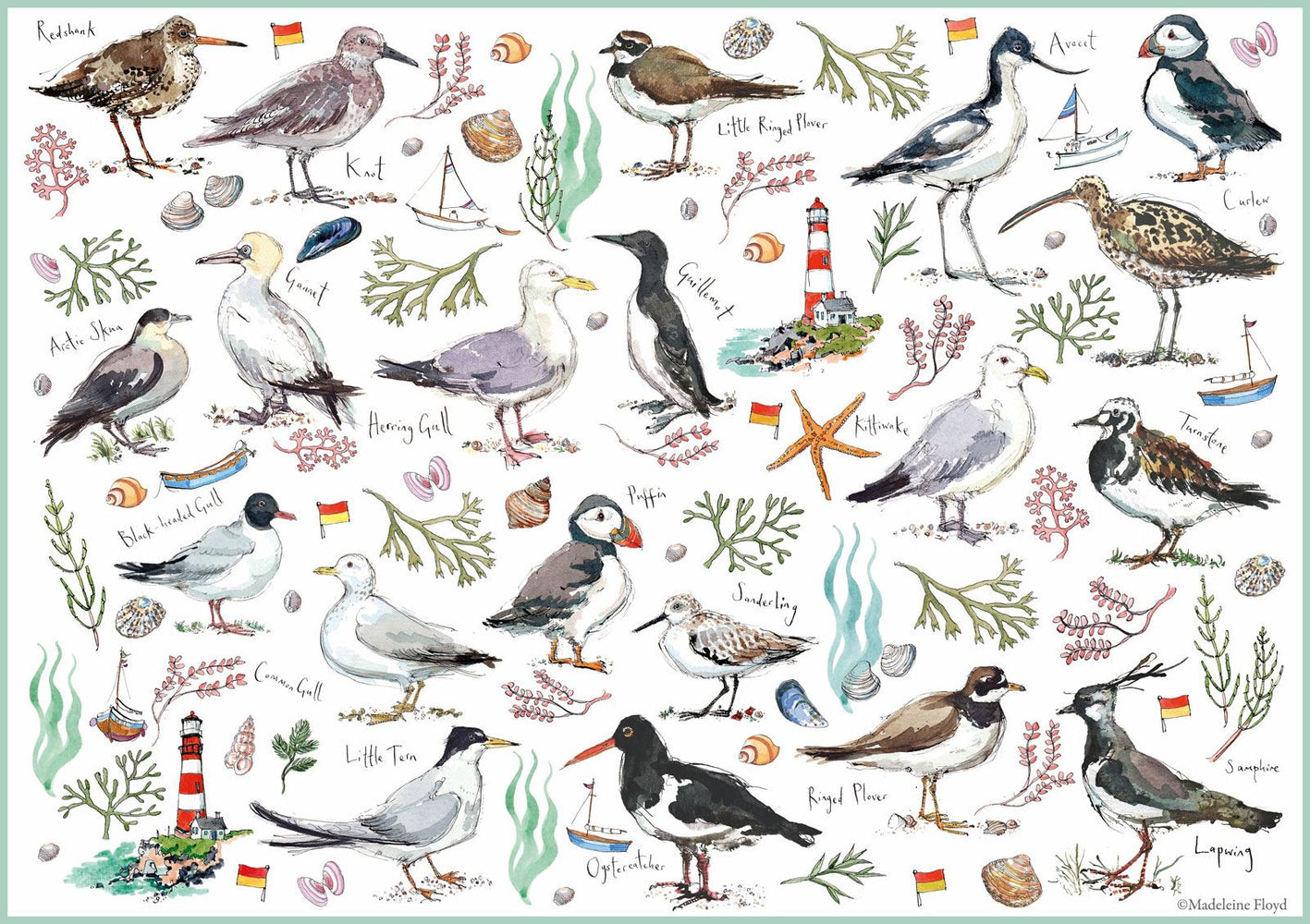 Seabirds 500 Piece Jigsaw Puzzle