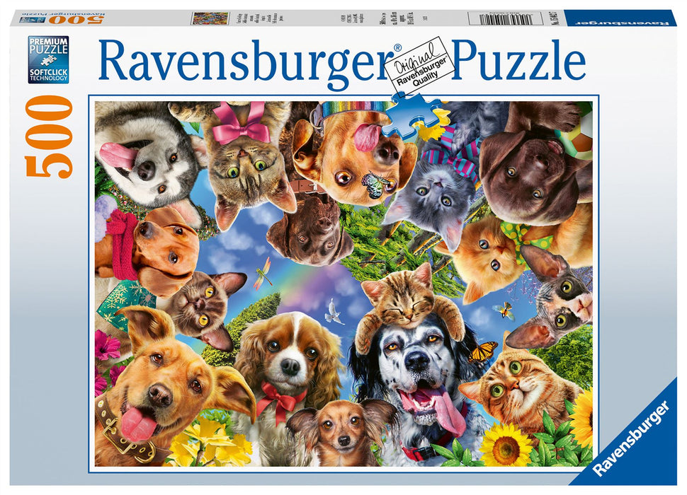 Ravensburger Animal Selfies, 500 Piece Jigsaw Puzzle 1