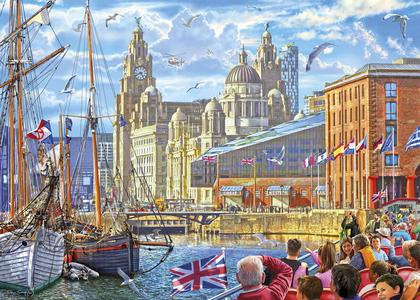 Albert Dock, Liverpool 1000 Piece Jigsaw Puzzle