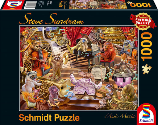 New 2020 - Steve Sundram - Music Mania 1000 Piece Jigsaw Puzzle box