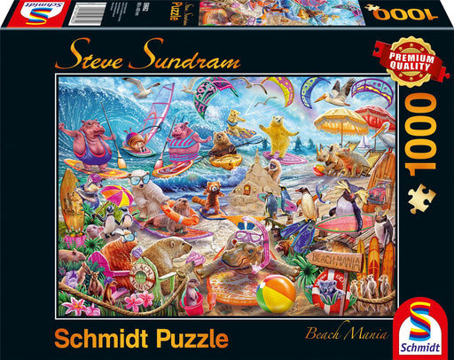 New 2020 - Steve Sundram - Beach Mania 1000 Piece Jigsaw Puzzle box