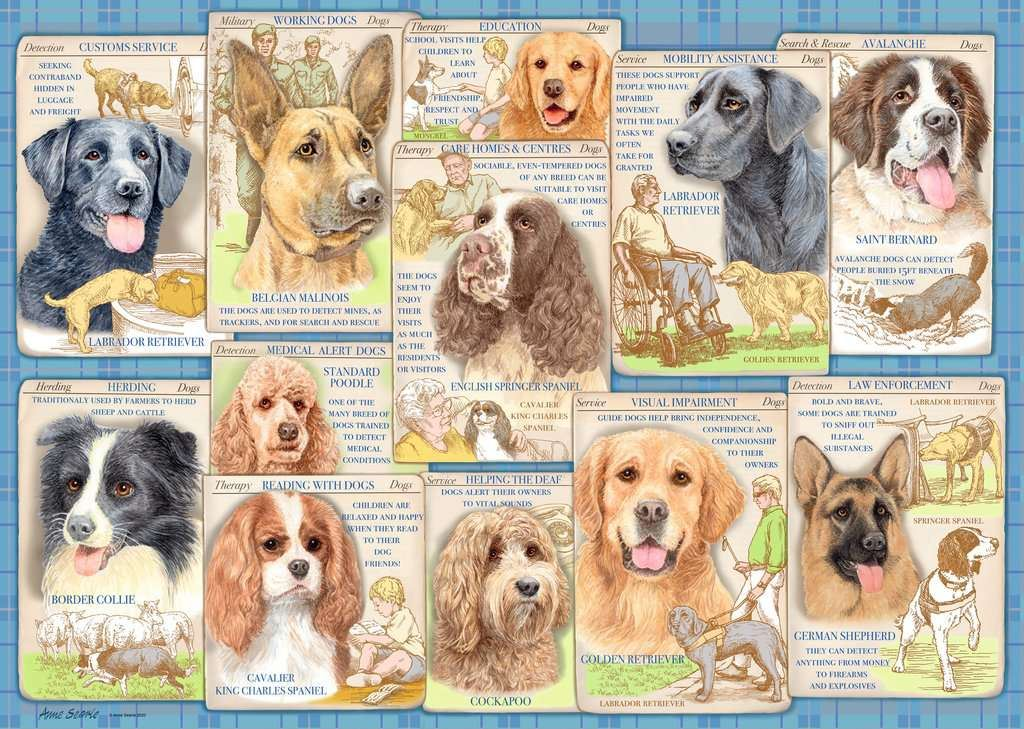Dutiful Dogs, 1000 Piece Jigsaw