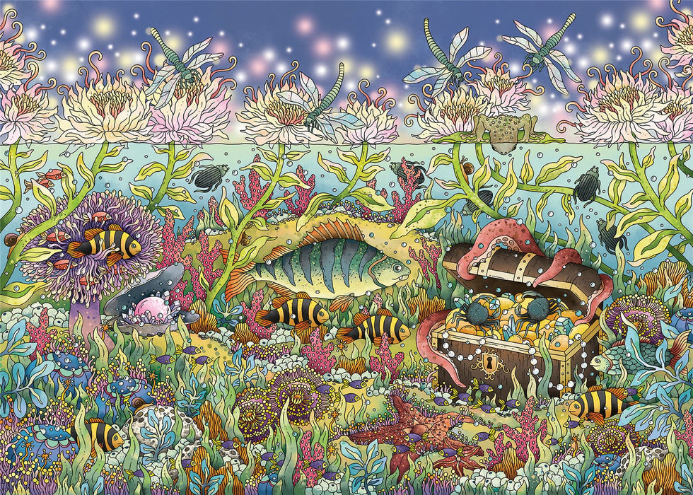 Underwater Kingdom at Dusk 1000 Piece Jigsaw Puzzle