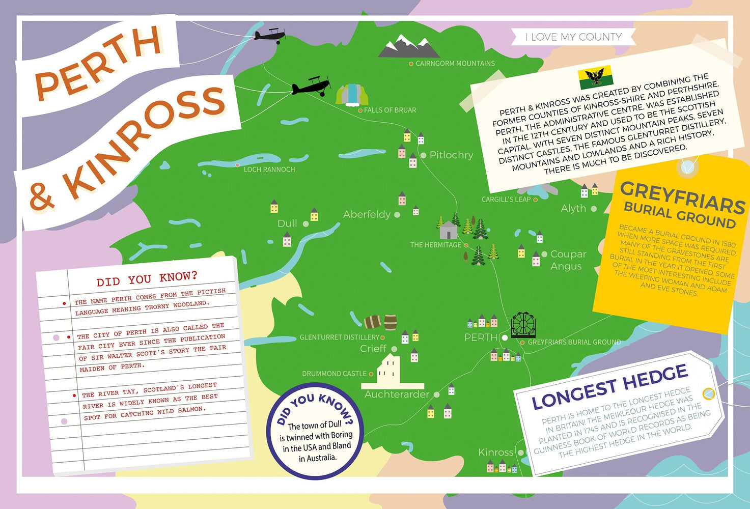 Perth and Kinross - I Love My County 400 piece Jigsaw Puzzle