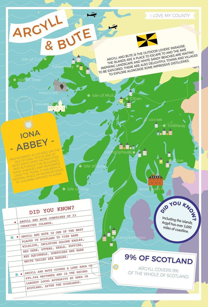 Argyll and Bute - I Love My County 400 piece Jigsaw Puzzle