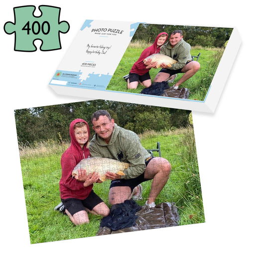 Fishing Gift - Personalised 400 Piece Photo Jigsaw