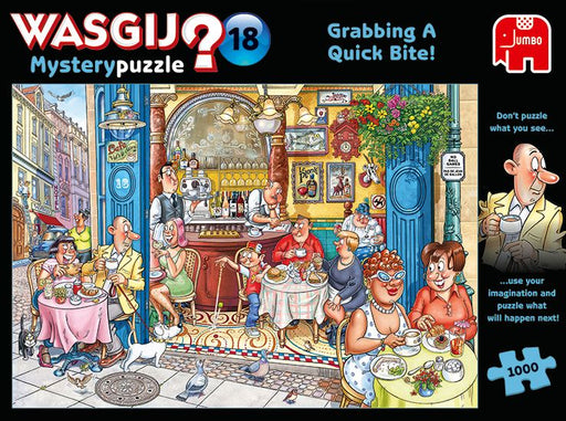 New 2020 -  Wasgij 'Mystery 18 Grabbing A Quick Bite 1000 Piece Jigsaw Puzzle