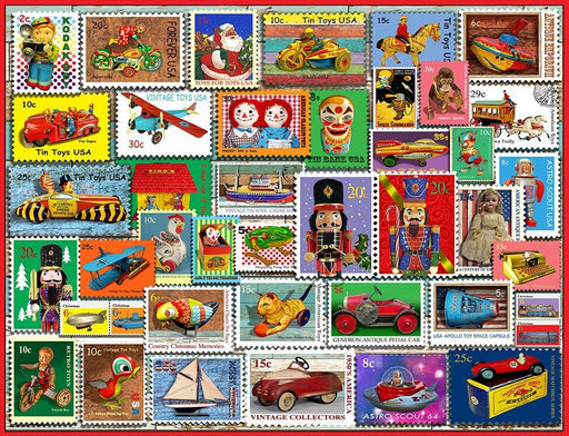 Christmas Toy Stamps Jigsaw Puzzle