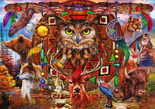 Animal Totem 1000 Piece Jigsaw Puzzle