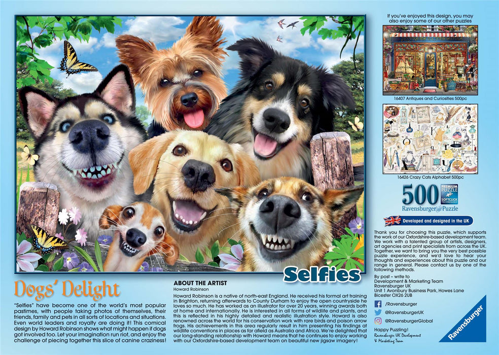Ravensburger Selfies Dogs' Delight, 500 Piece Jigsaw Puzzle 2