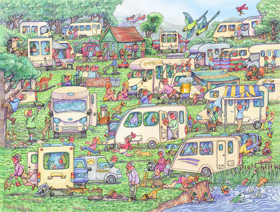 Caravan Commotion 1000 Piece Jigsaw Puzzle