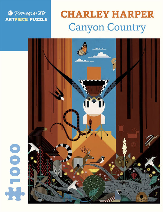 Charley Harper: Canyon Country 1000 Piece Jigsaw