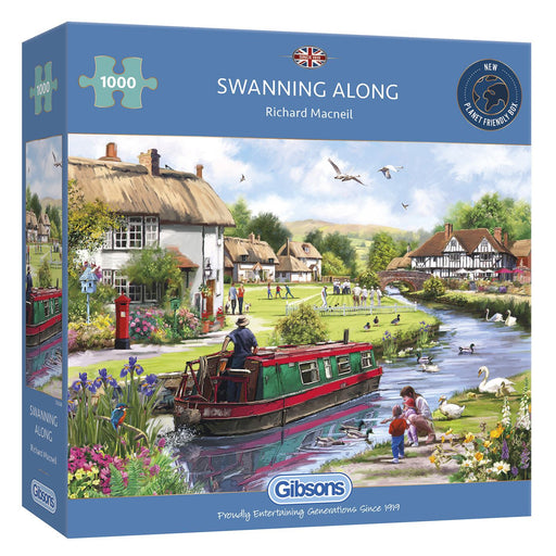 Gibsons Swanning Along  1000 piece Jigsaw Puzzle box