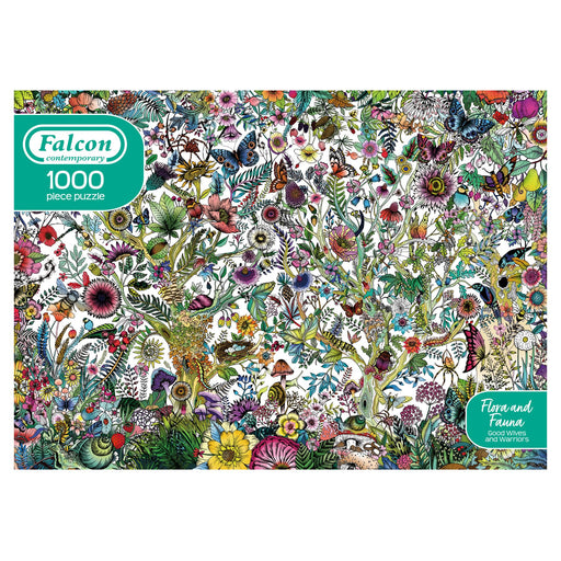 Falcon Contemporary Flora and Fauna 1000 Piece Jigsaw Puzzle box
