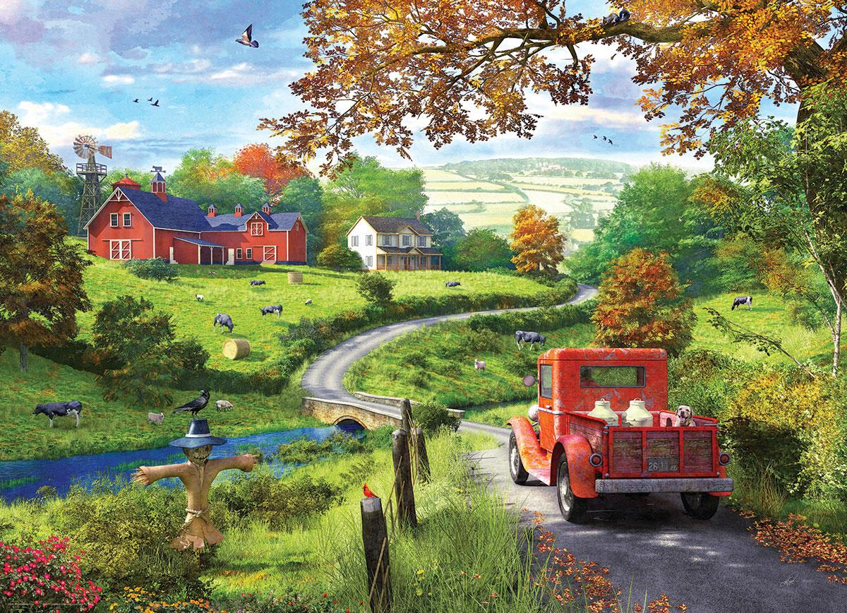 The Country Drive - Dominic Davison 1000 Piece Jigsaw Puzzle