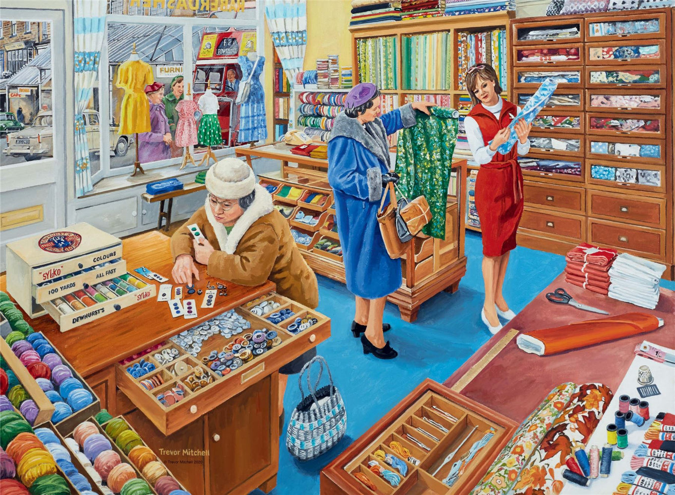 Ravensburger Happy Days at Work, The Haberdasher, 500 Piece Jigsaw Puzzle