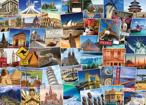 Globetrotter World 1000 Piece Jigsaw Puzzle