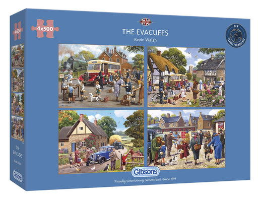Gibsons The Evacuees 4x500 piece Jigsaw Puzzle box