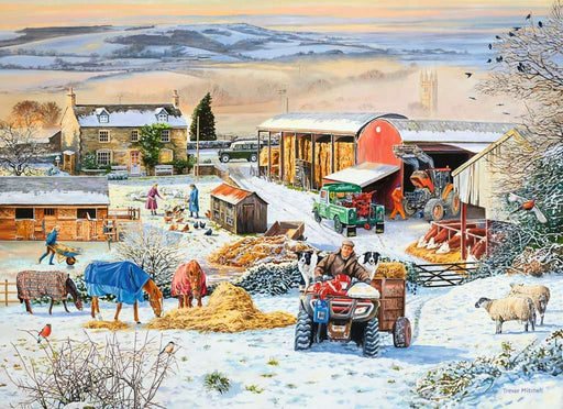 Winter on the Farm, 1000 Piece Jigsaw