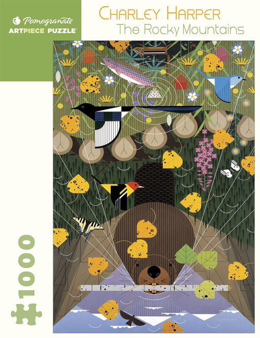 Charley Harper: The Rocky Mountains 1000 Piece Jigsaw
