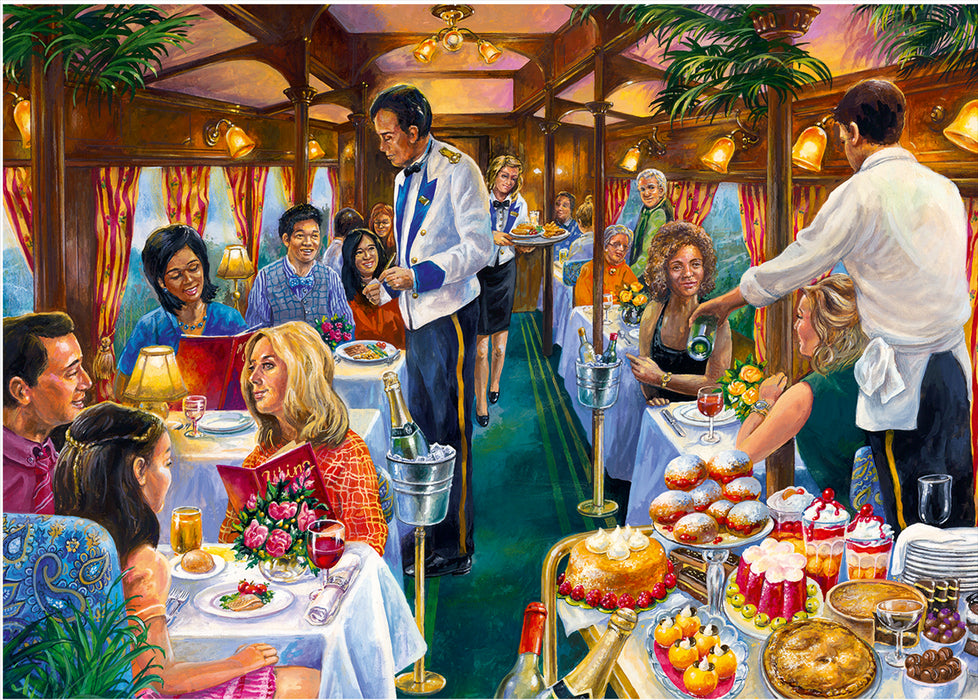 Falcon de luxe The Dining Carriage 500 Piece Jigsaw Puzzle