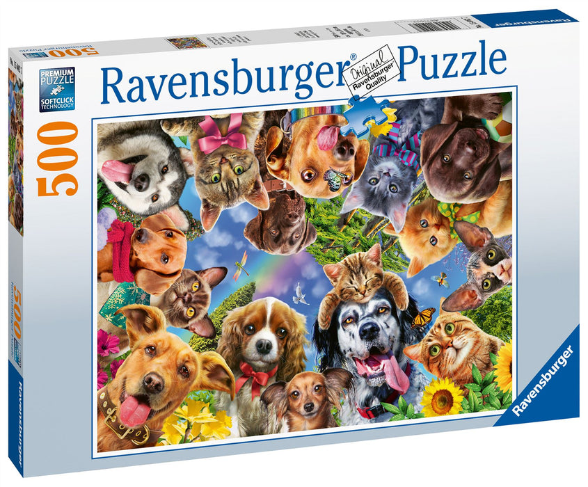 Ravensburger Animal Selfies, 500 Piece Jigsaw Puzzle 2