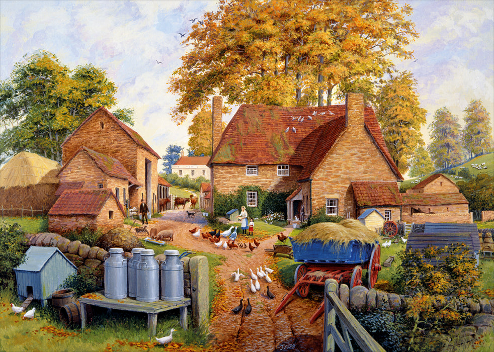 Autumn on the Farm 1000 Piece Jigsaw Puzzle