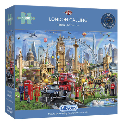 Gibsons London Calling 1000 piece Jigsaw Puzzle box