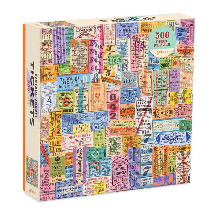 Vintage Travel Tickets 500 Piece Jigsaw Puzzle