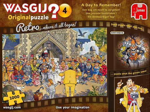 Retro Wasgij Original 4 A Day to Remember 1000 Piece Jigsaw Puzzle