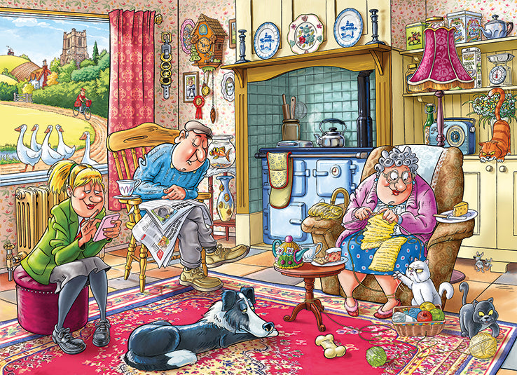 Wasgij Mystery 17 Catching a Break 1000 Piece Jigsaw Puzzle