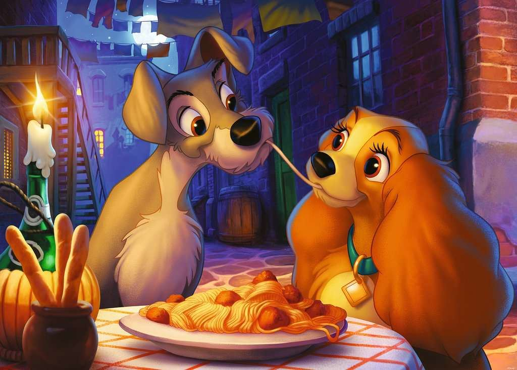 Disney's Lady and the Tramp 1000 Piece Jigsaw Puzzle