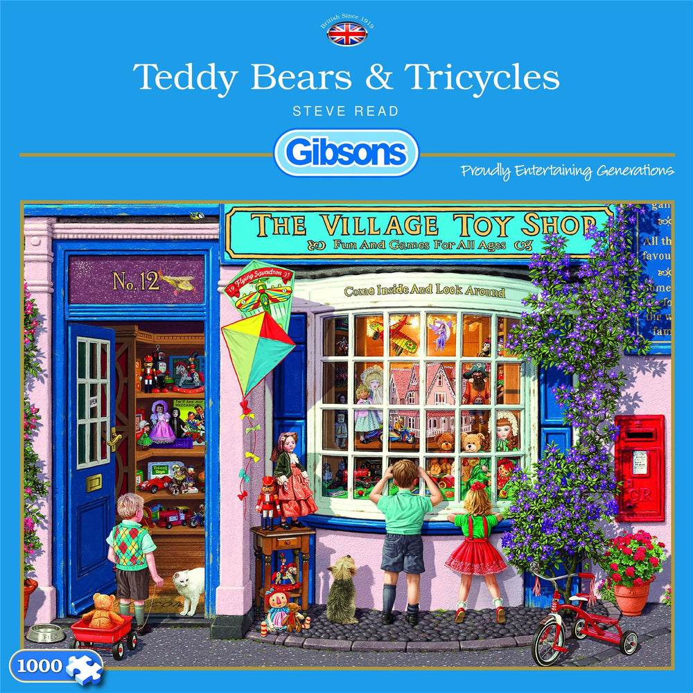 Village Toy Shop  - Teddy Tricycles - 1000 Piece Jigsaw Puzzle