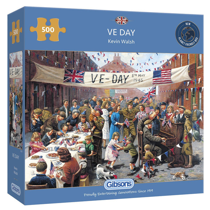 Gibsons VE Day 500 piece Jigsaw Puzzle - box
