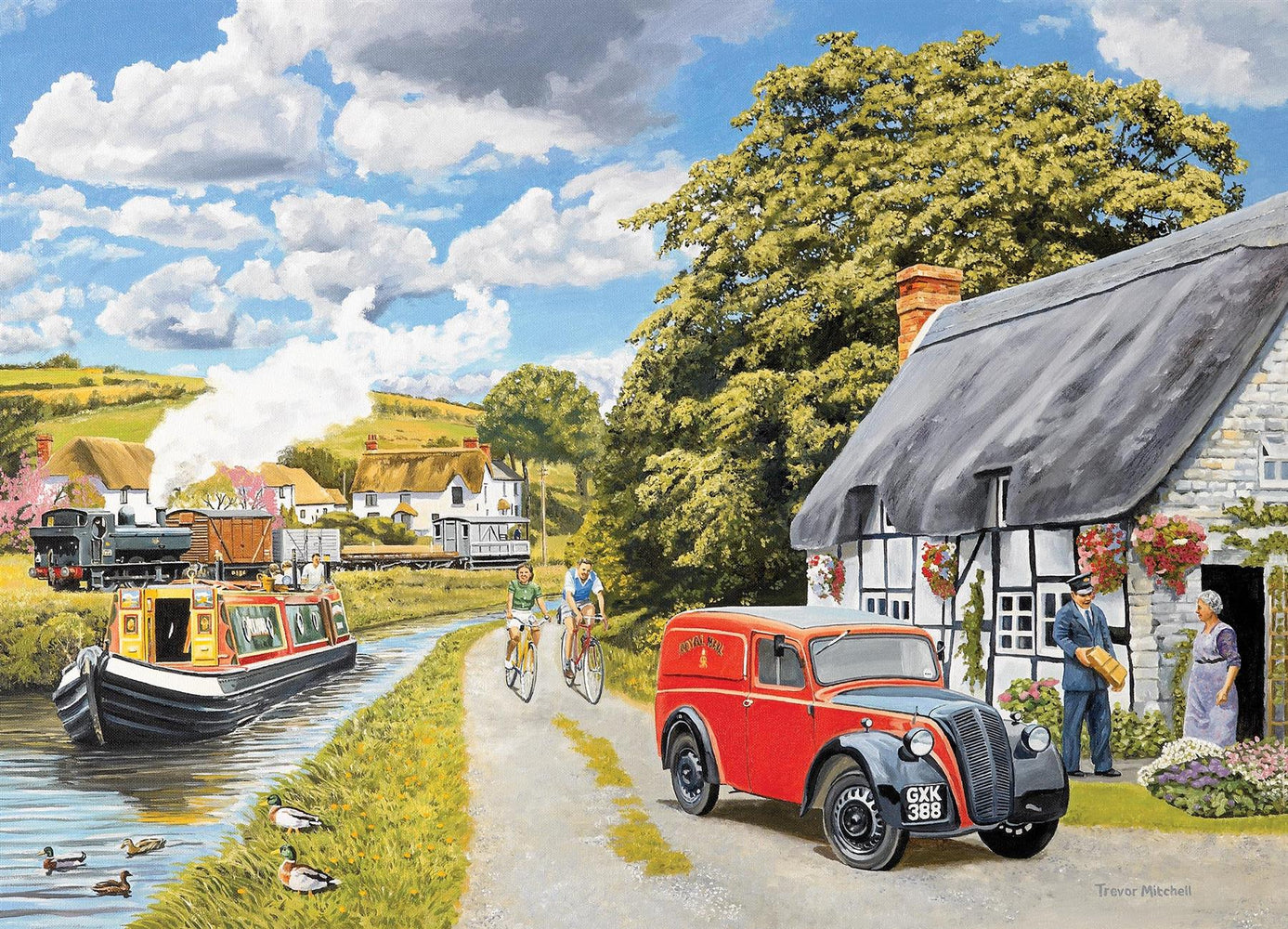 Falcon Parcel for Canal Cottage 1000 Piece Jigsaw Puzzle