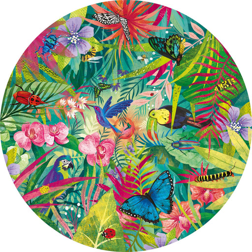 Tropical 500 Piece Circular Jigsaw Puzzle