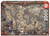 Pirates Map - Educa 2000 Piece Jigsaw Puzzle
