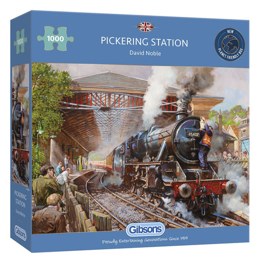 Gibsons Pickering Station 1000 piece Jigsaw Puzzle box