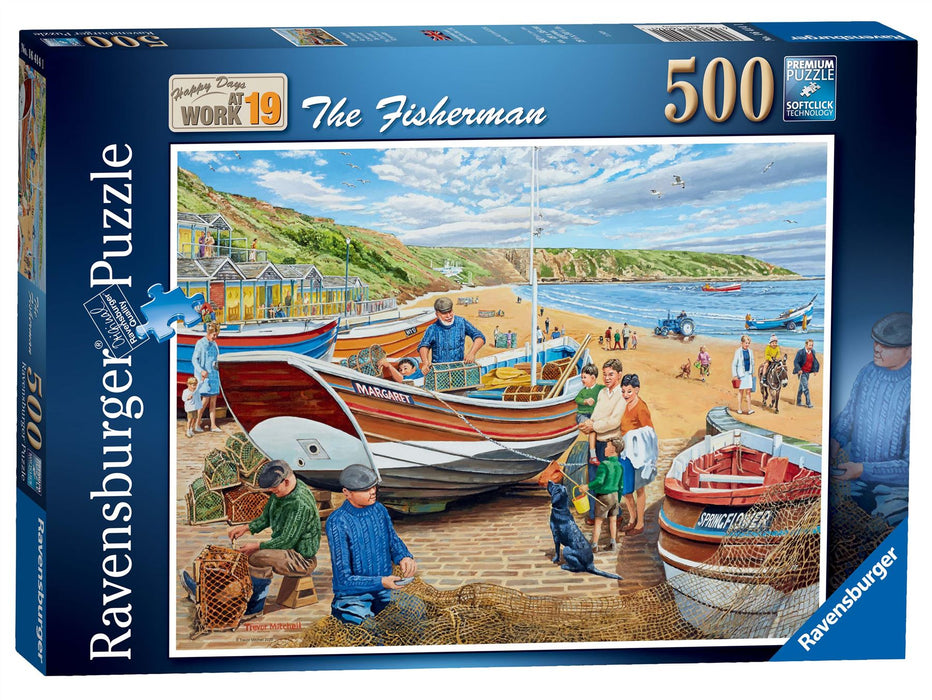 Ravensburger Happy Days at Work, The Fisherman, 500 Piece Jigsaw Puzzle 1