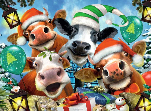 Selfies - We Wish Moo a Merry Christmas, 500 Piece Jigsaw