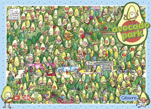 Avocado Park is a fun and avocado filled 250 XL Piece Jigsaw Puzzle.